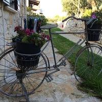 Photo taken at Kavos Psarou Villas by Lucia on 7/21/2014