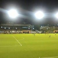 Photo taken at Estadio Don León Kolbowski (Club Atlético Atlanta) by Gustavo M. on 10/4/2015