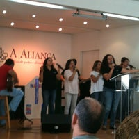 Photo taken at Igreja A Aliança by Graziella on 10/28/2012