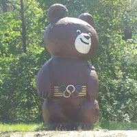 Photo taken at Олімпійский ведмедик / Olimpic Bear Monument by Андрей W. on 5/6/2013