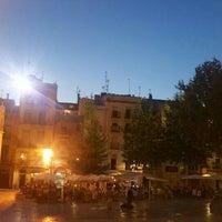 Photo taken at Plaça del Rei by Judit on 7/26/2016