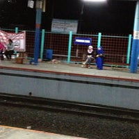 Photo taken at Stasiun Pondok Cina by rica y. on 2/16/2013