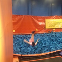 Photo taken at Sky Zone Indoor Trampoline Park by Tami on 2/3/2013