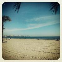 Photo taken at Postiguet Beach by Javi C. on 1/7/2013