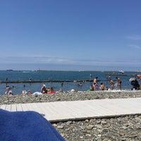 Photo taken at Пляж Мориса Тореза by 🎀Aya🎀 on 7/22/2017