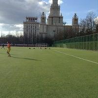 Photo taken at Футбольное поле МГУ by Pavel K. on 5/1/2013