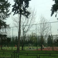 Photo taken at Футбольное поле МГУ by Pavel K. on 5/3/2013