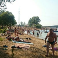 Photo taken at ICE beach by Ekaterina G. on 8/9/2015