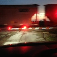 Photo taken at Katy Train tracks by Julie Schultz on 8/10/2013