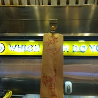 Photo taken at Which Wich? Superior Sandwiches by Jason on 2/20/2013
