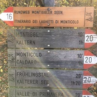 Photo taken at Großer Montiggler See / Lago Grande di Monticolo by Armin B. on 10/30/2017