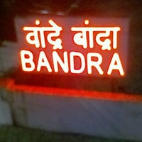 Photo taken at Bandra Railway Station by Altaf P. on 10/26/2012