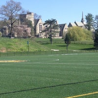 Photo taken at Bryn Mawr College Labyrith by Alison on 4/25/2013
