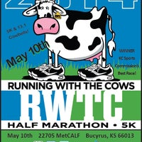 Photo taken at Running With Cows 5k & Half Marathon by Michael on 5/10/2014