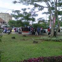 Photo taken at Halte Bis Unsri by Rezy P. on 11/5/2012