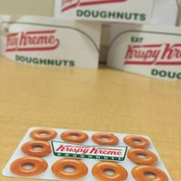 Photo taken at Krispy Kreme Doughnuts by Myles J. R. on 12/3/2014