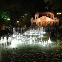 Снимок сделан в Градинката пред Народен театър пользователем Alexander 4/24/2013