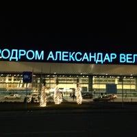 Photo taken at Skopje Alexander the Great Airport (SKP) by Furkan B. on 1/6/2013