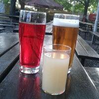 Photo taken at Zahrádky a restaurace Riegrovy sady – Park Café by Sandra P. on 9/16/2012