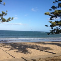 Photo taken at Torquay Front Beach by Alisa on 1/25/2013