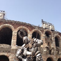 Photo taken at Arena di Verona by Valya 🌟✨ on 5/1/2013