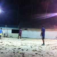 Photo taken at Anantara Veli Staff Volley Court by Ravah M. on 2/3/2013