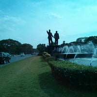 Photo taken at Patung Soekarno-Hatta by Feni K. on 7/1/2013