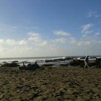 Photo taken at Playa San Antonio by María Jose R. on 2/12/2013