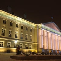 Photo taken at University of Tartu main building by Maria R. on 12/25/2012