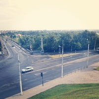 Photo taken at Днепровский мост by Alex S. on 6/15/2013