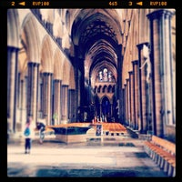 Photo taken at Salisbury Cathedral by Dj P. on 2/7/2013