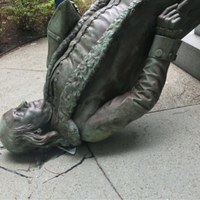Photo taken at Benjamin Franklin Statue by David D. on 8/15/2016