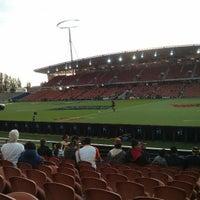 Photo taken at Waikato Stadium by Ben N. on 3/22/2013