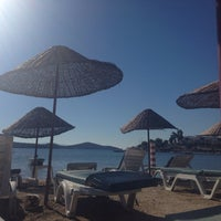 Photo taken at Bitez Han Beach Hotel by Mustafa M. on 10/20/2013