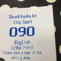 Photo taken at Scottsdale Municipal Court by Becca @GritsGal on 7/16/2013