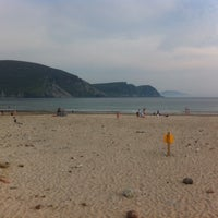 Photo taken at Keel Beach by Pat D. on 7/25/2014