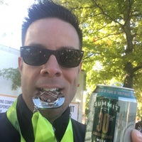 Photo taken at Medtronic TC 10 Mile Finish Line by Adam M. on 10/9/2016