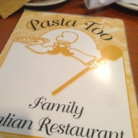 Photo taken at Pasta Too by Ashley M. on 6/9/2013