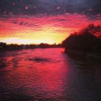 Photo taken at Putney Bridge by Tom P. on 5/4/2013