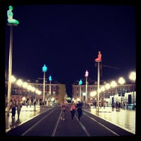 Photo taken at Place Masséna by Julia S. on 7/11/2013