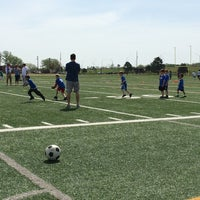 Photo taken at YMCA South Football Field by Kristen on 4/26/2014