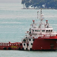 Photo taken at Loyang Offshore Supply Base Jetty by Benjamin L. on 7/11/2014