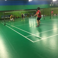 Photo taken at Champion Badminton Court by Edward Lim on 1/1/2017