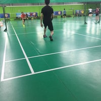 Photo taken at Champion Badminton Court by Edward Lim on 10/30/2016