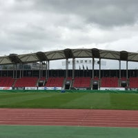 Photo taken at Tancheon Sports Complex Stadium by Tim on 8/21/2017