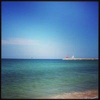 Photo taken at Iho Taewu Beach by Dongkwang K. on 9/9/2013