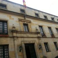 Photo taken at Palacio de San Carlos by Ingrid M. on 3/4/2013