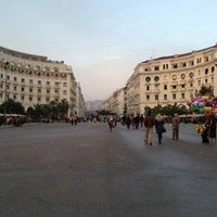 Photo taken at Aristotelous Square by Нюта on 4/1/2013