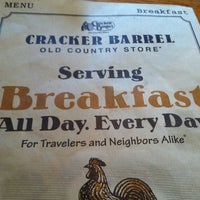 Photo taken at Cracker Barrel Old Country Store by Leigh on 1/6/2013