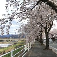 Photo taken at 馬見ヶ崎歩道橋 by Tiff T. on 4/20/2017